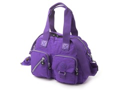 Kipling Defea Medium Handbag, Neon Purple