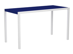 MOD Bar Table, White/Pacific Blue