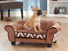 Lotus Chevron Bed Brown