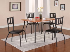 Black & Maple 5-Piece Dining Set