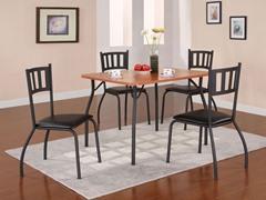 Black & Maple 5-Piece Dining Set
