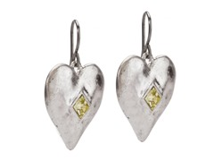 Relic RJ2062041 Silver Heart Shaped Earrings