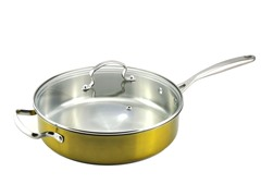 "Kevin Dundon 11"" Saute Pan: Gold"