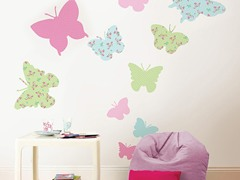 Pastel Butterflies Wall Decals