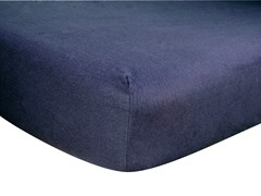 Navy Blue Flannel Crib Sheet