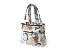 Bubble Teal Tulip Tote Diaper Bag