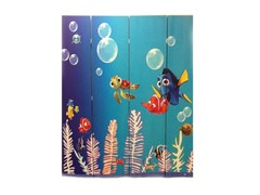 4 Panel Finding Nemo Room Divider