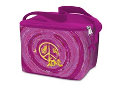 Lunch Cooler Bag-Grunge Peace-Pink