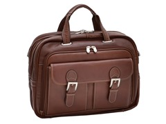 """Guidoni Leather Checkpoint-Friendly 17"""" Laptop Case"""