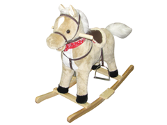 """""""Blondie"""" Horse Rocker with Moving Mouth"""