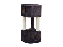 "Brown Abstract Two Condo Cat Tree 39"" H"