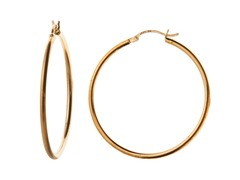 18 kt Gold Plated SS French Lock Hoop Earrings