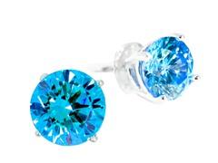 SS Blue 1cttw Earring
