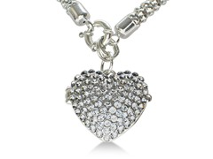 Super Shimmery Swarovski Crystal Heart Locket