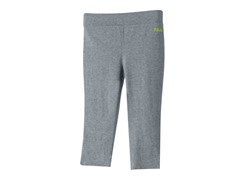 Girls Neon Slash Capris - Grey & Yellow