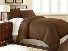 Micro Flannel® Duvet Cover Set-Chocolate- 3 Sizes