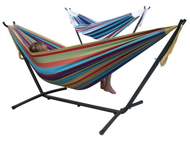 Vivere 9-Foot Double Hammock with Stand