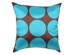 Polka Dot Turquoise 18-inch Pillow