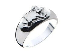 Sterling Silver Monkey Ring
