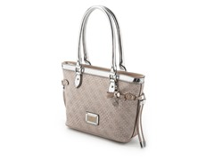 Guess Madaket Small Carryall Handbag, Silver Metallic