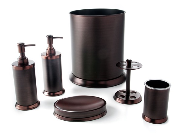 Pembroke 6 pc oil rubbed bronze bath set Oil rubbed bronze bathroom hardware