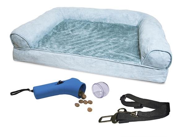 Furhaven Plush Sofa Pet Bed Bundle