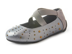 Umi Addie Ballet Flat- Pewter (Kids 1)