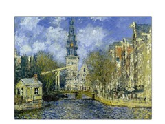 The Zuiderkerk at Amsterdam by Claude Monet
