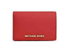 Michael Kors Jet Set Travel Slim Wallet, Red