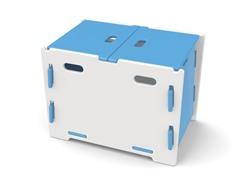 Blue & White Kid's Storage Bin