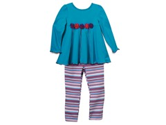 Tunic & Leggings Set - Teal (12M-6X)