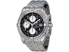 Men's Evolution Diamond Bezel Black Dial