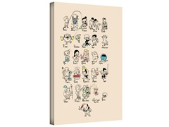 Shakespeare A to Z Gallery Wrapped Canvas 2-Sizes