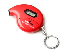 Digital Talking Tire Gauge Keychain, 2-Pack, Red