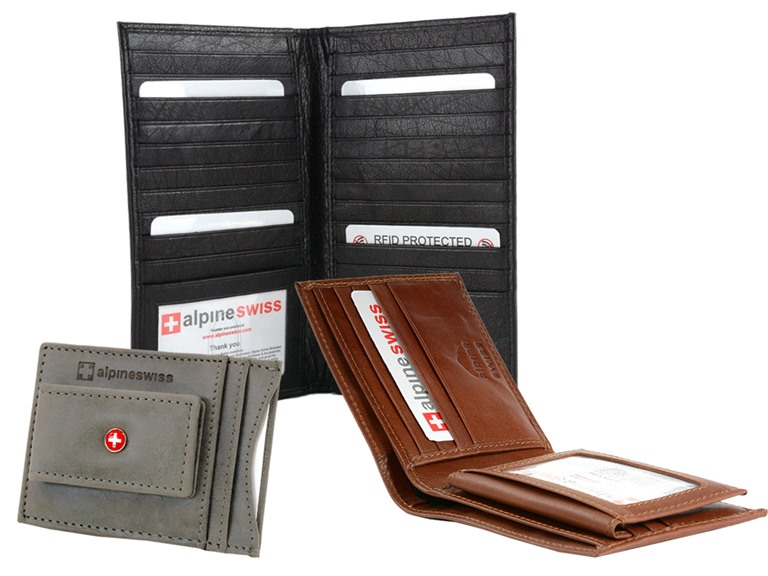 Alpine Swiss Leather Wallets