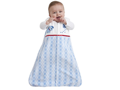 Microfleece Sleepsack - Blue Argyle/SM