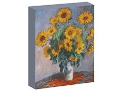 Monet Vase of Sunflowers