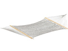 60-Inch Polyester Double Rope Hammock, White