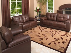 Abbyson Living Kensington Leather 3-PC Set