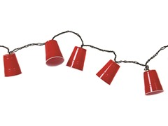 Red Party Cup String Lights- 10 Count