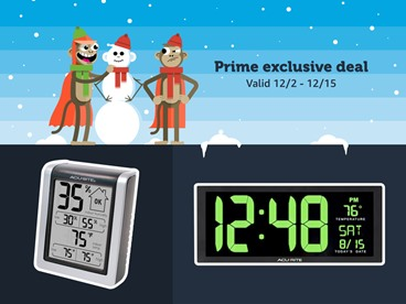 AcuRite Gifting Favorites: Weather Station, Humidity Monitor, or LED Clock