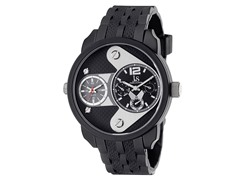Dual Time Chronograph, Black