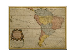 Map of South America 1700' Canvas Art- 2 Sizes