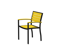 Euro Dining Chair, Black/Lemon