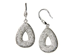 Sterling Silver TearDrop CZ Earrings