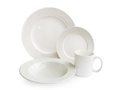 American Atelier Weave 16-Pc Dinner Set