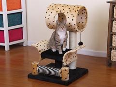 "28"" Leopard Print Cat Condo"