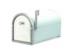 Coronado Mailbox, White with Antique Nickel
