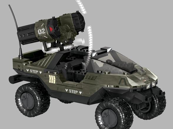 EA2 MEGA Bloks Halo UNSC rockethog CONTRO ANTI AIRCRAFT GUN SET #96923