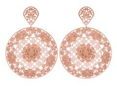 18kt Rose Gold Plated Full Bloom Earring